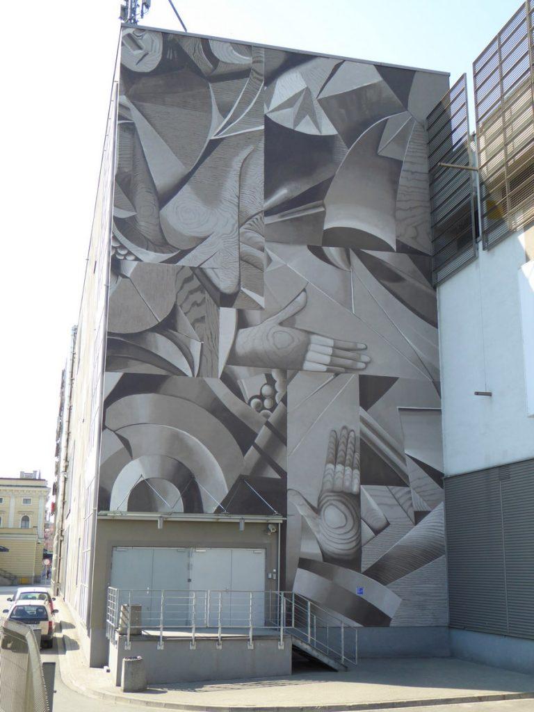 JUSTYNA POSIECZ-POLKOWSKA - East wall of Galeria Krakowska