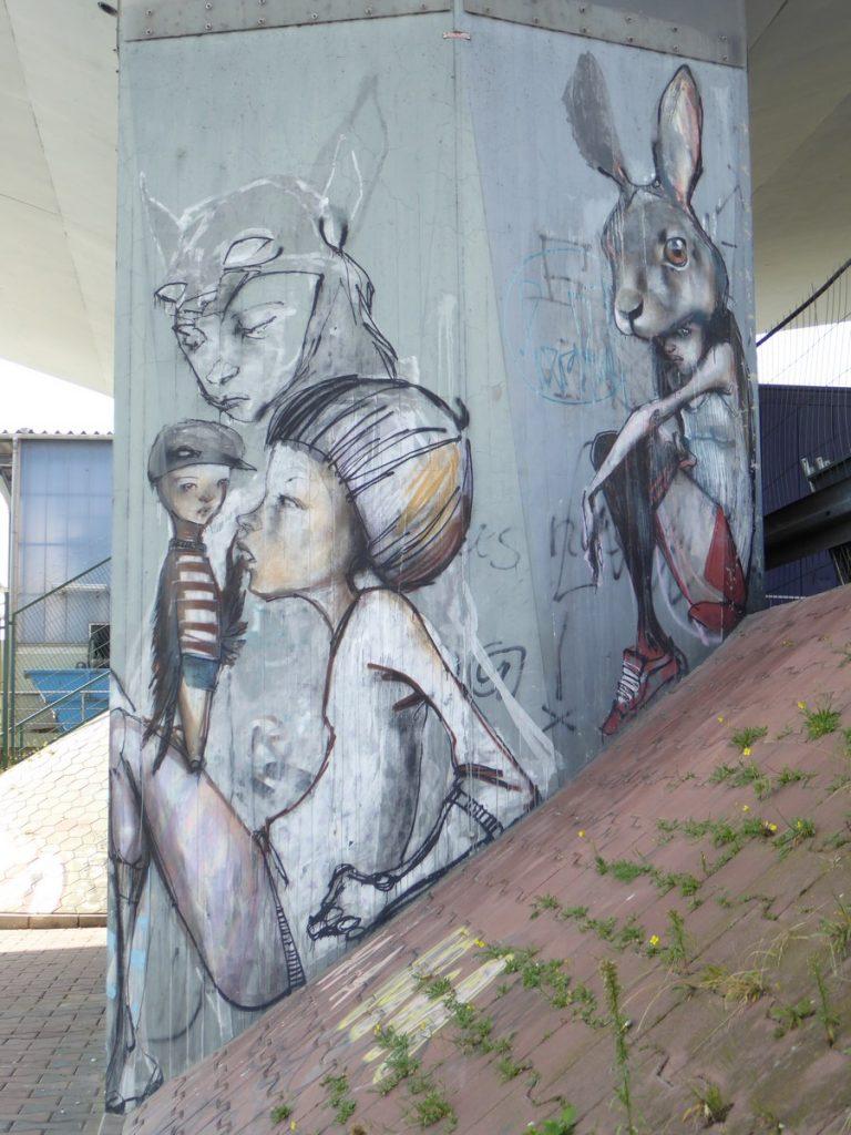 HERAKUT - Francfort, Leunabrucke (en-dessous du pont)