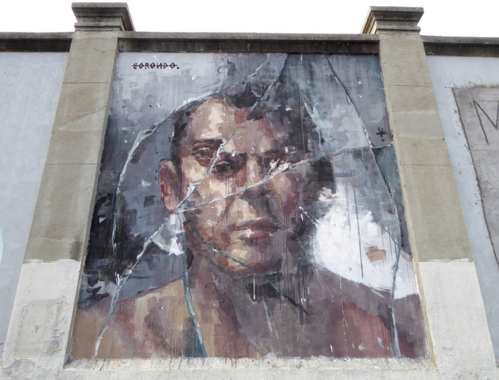 BORONDO - Mur extérieur de La Tabacalera, Calle Miguel Servet