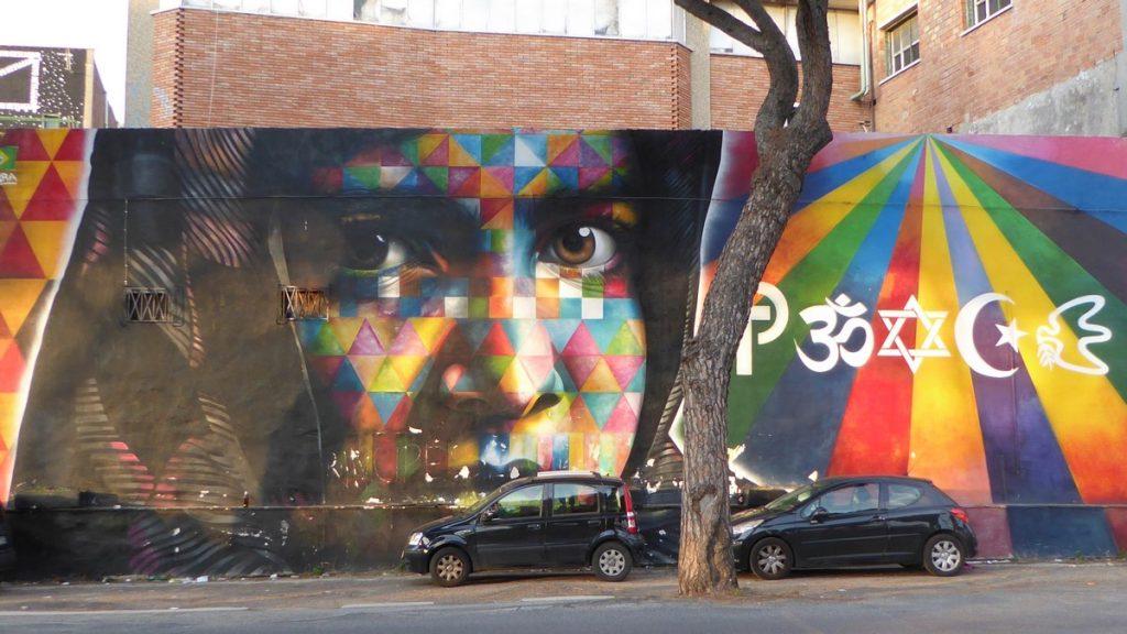 EDUARDO KOBRA - FART ART GALLERY 909 via Prenestina