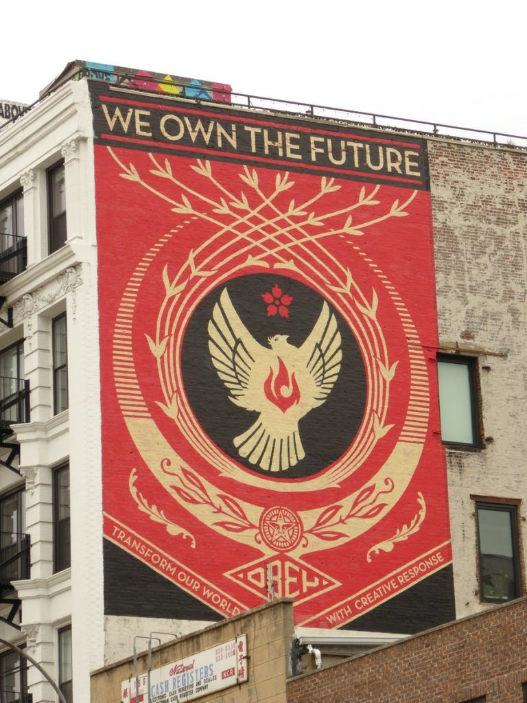 OBEY – SHEPARD FAIREY - New York - Bowery & Broome st