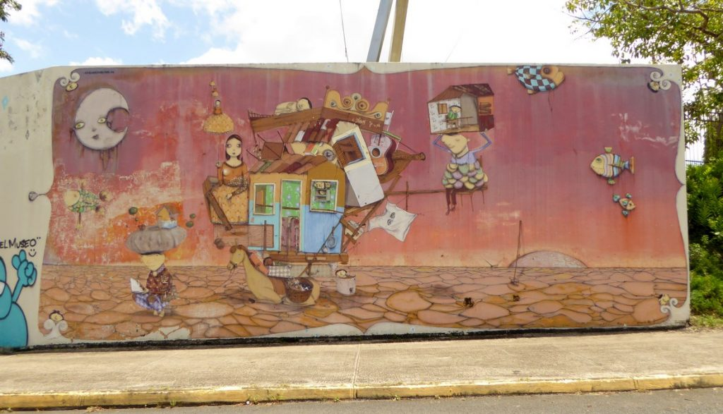 OS GEMEOS - San Juan Puerto Rico - Mur extérieur du Museo de arte de Puerto Rico, calle Marginal