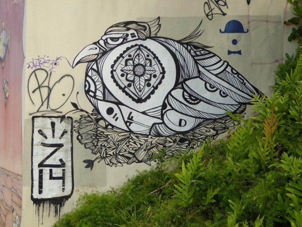 San Juan Puerto Rico - Mur extérieur du Museo de arte de Puerto Rico, calle MarginalOS GEMEOS - San Juan Puerto Rico - Mur extérieur du Museo de arte de Puerto Rico, calle Marginal