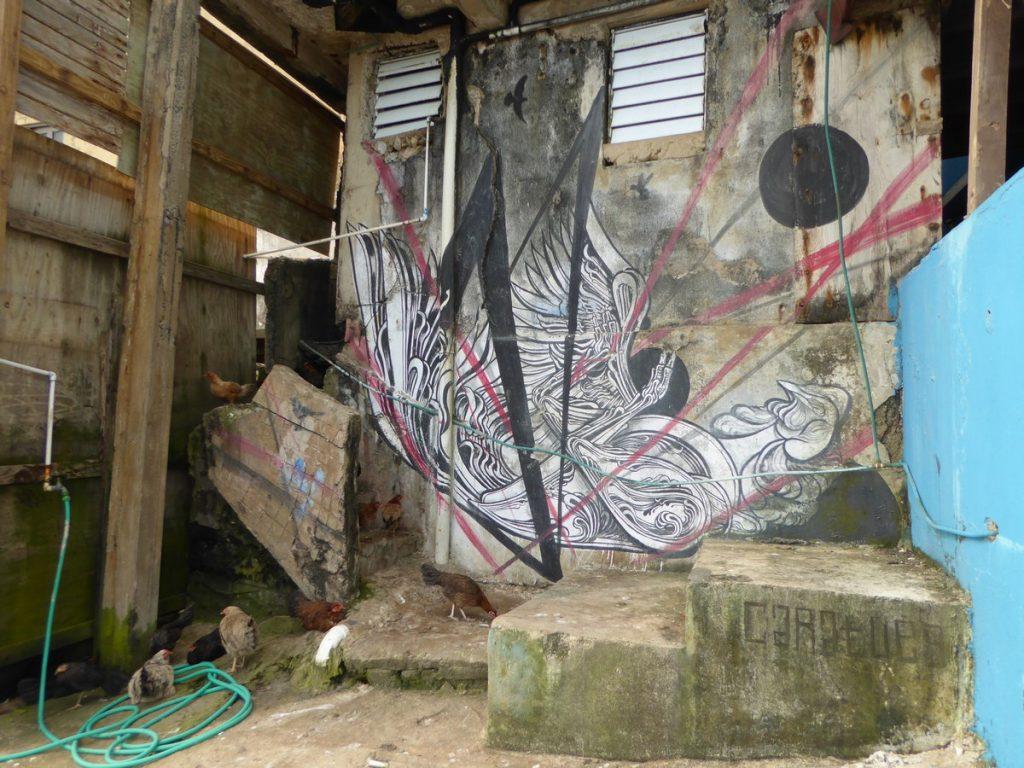 CARATOES - Old San Juan Puerto Rico - Maison abandonnées en bord de plage après cal San Miguel