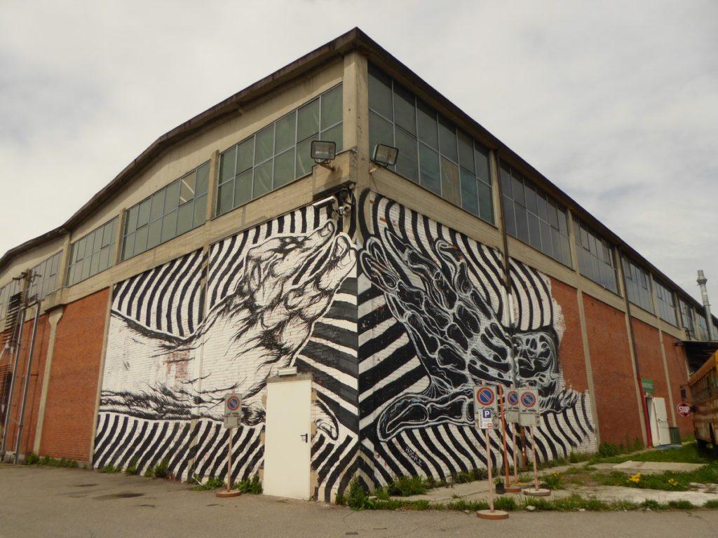 Turin - via Nicolo Paganini (au bout), Associazione Culturale Variante Bunker