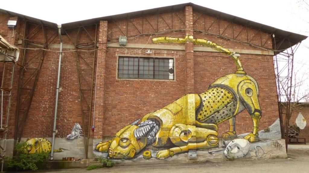 PIXEL PANCHO - Turin - via Nicolo Paganini (au bout), Associazione Culturale Variante Bunker