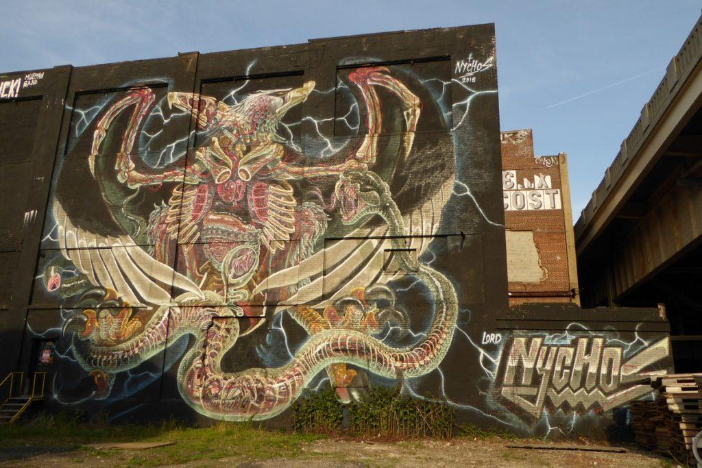 NYCHOS - Jersey City - Mounmouth st & 13th st (caché derrière le bâtiment)