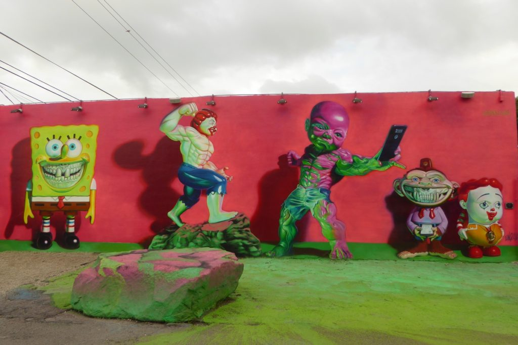 RON ENGLISH - Miami - Wynwood Walls – NW 26 st / NW 25 st / NW 2 av